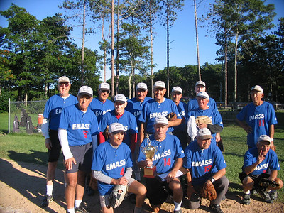 Dad's senior softbal team beat a nationally ranked team from Pa. who were the favorites, plus a rival Cape team which they've battled over the years. After losing to the Cape team on Monday in the preliminary round by 4-0, EMASS thrashed them in the finals by 17-4. They then beat the Pa. team 15-11 and Fairfield, Ct by 16-4 on the final day.