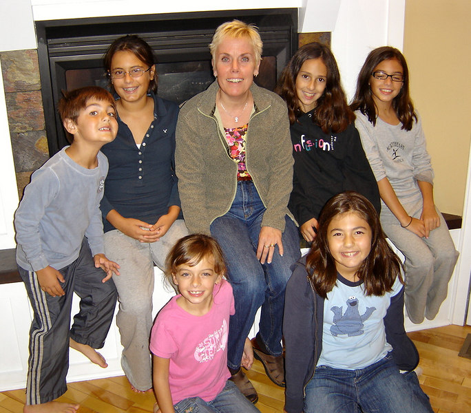 Clockwise: Nicholas, Ali, Diane, Marisa, Julia, Talia, and Emma.