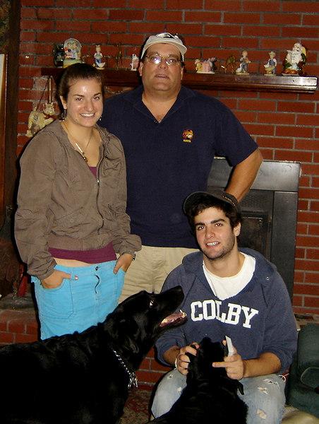 Lauren, David, and Philip. (w/Harley and Sasha)