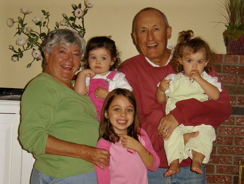 Mom, Sophia, Carly, Dad, and Ella.
