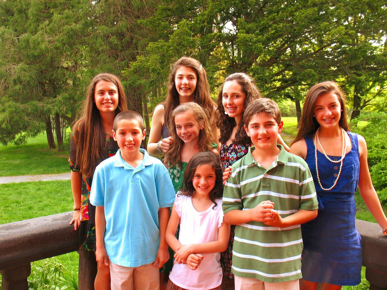 Ali, Tommy, Talia, Emma, Genna, Marisa, Nick, and Julia.