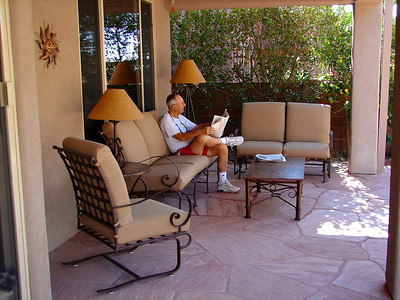 11/23/06: Dad relaxing with the paper Thanksgiving morning.