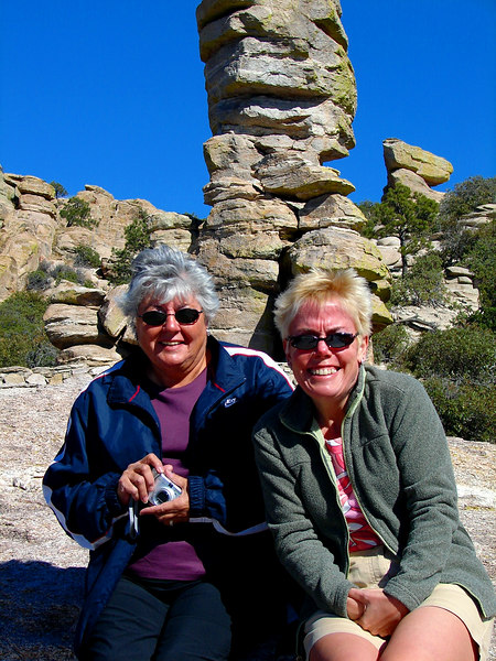 11/26/06: Mom and Diane at Windy Point.