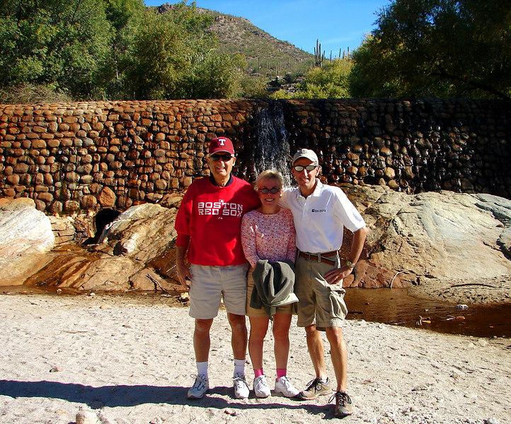 11/25/06: Dad, Diane, and Tom at Sabino Canyon Dam.