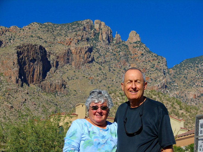 11/20/06: Mom and Dad - Finger Rock, Santa Catalina Mountains.