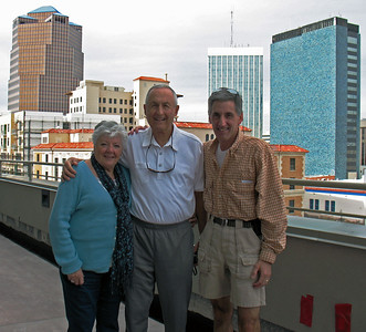 11/30/13: Mom, Dad, and I on the 4'th floor patio, UNS Energy Headquarters, downtown.