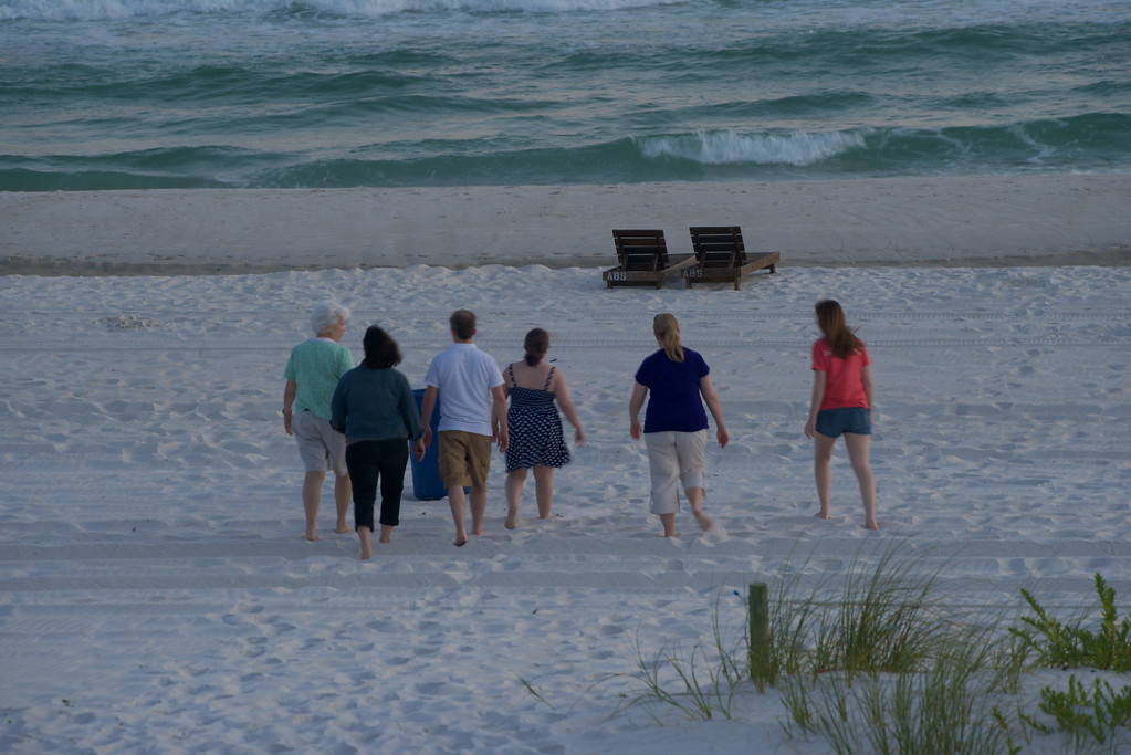 Off for the evening stroll<br /> Panama City Beach<br /> 2013