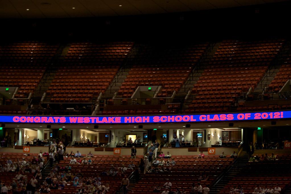 Banner at graduation.