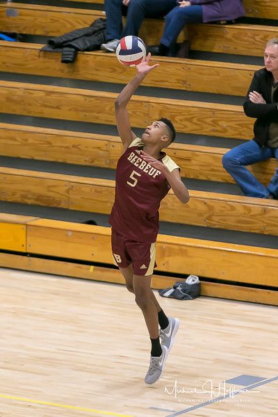 Brebeuf boys volleyball vs. Louisville St. X and Chesterton at Cathedral Tournament March 10, 2018