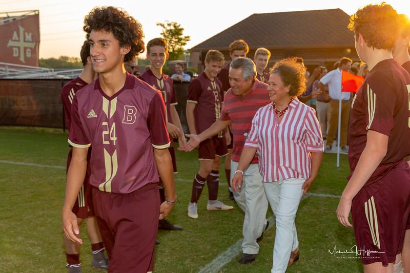 Brebeuf Jesuit Boys Soccer Senior Night vs. Covenant Christian_9/20/18