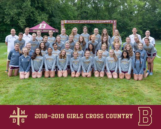 2018 Girls Cross Country team photo