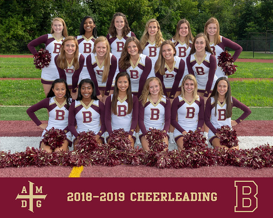 2018 Cheerleading team photo