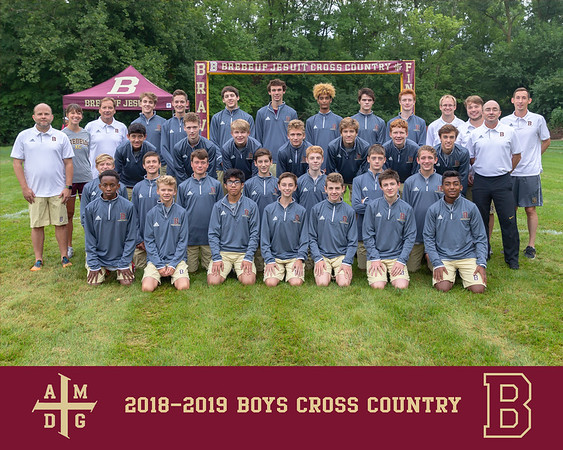 2018 Boys Cross Country team photo