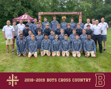 2018 Boys Cross Country team photo