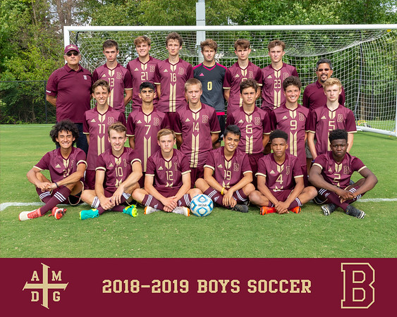 2018 Boys Soccer team photo
