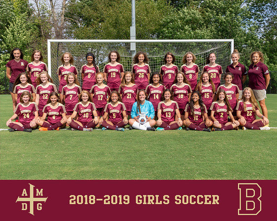2018 Girls Soccer team photo