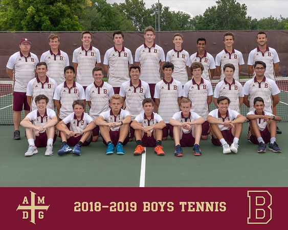 2018 Boys Tennis team photo