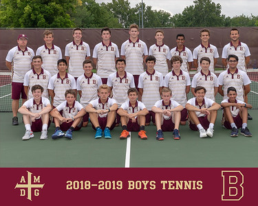 2018 Boys Tennis team photo