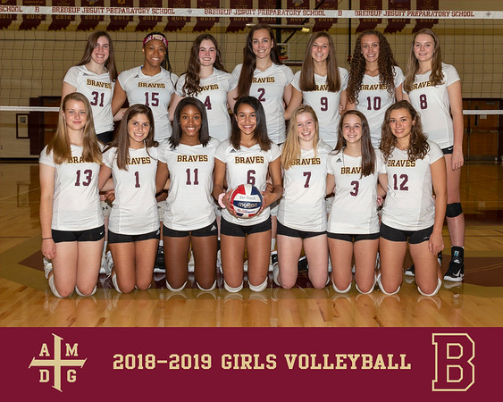 2018 Girls Volleyball team photo