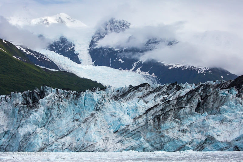 Part of the face of the Harvard Glacier.