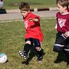 Adrik races for the goal