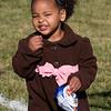 Amara enjoys a snack