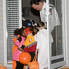 A Halloween scrum at a neighbor's home