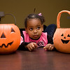 Amara and her pumpkin full of treats
