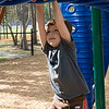 Adrik on the monkey bars