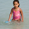 Amara enjoys the water