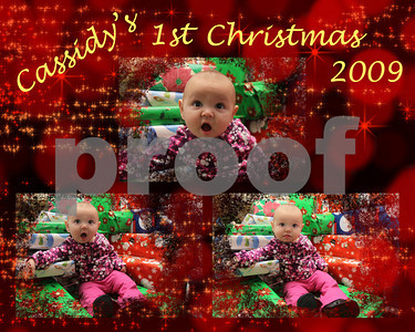 Cassidy 1st Christmas 2009
