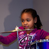 Amara plays her new drums