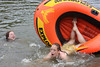 Pamela S Price in the water with Jennifer M Sparks getting dumped out of the boat