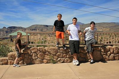 Noah, Kevin, Scotty & Josh along the Apache Trail