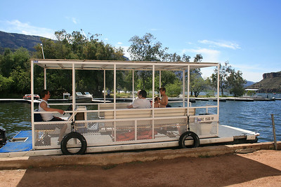 Pontoon boat that we rented