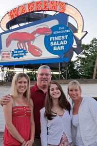 Tom Johnson and family ... apparently this WAS a BIG salad bar.