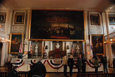 Inside Faneuil Hall