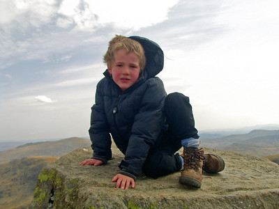 Ben on Adam - Tryfan. He was happier than that - really!