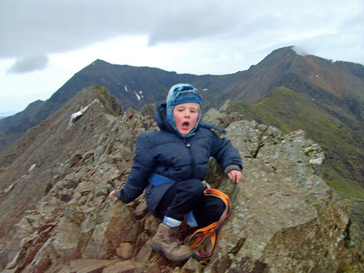 Sort of sums it up- early morning yawn on Crib Goch