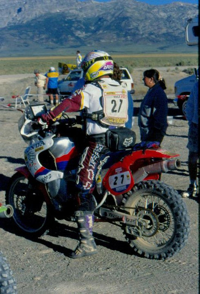 The Honda EXP-2 at the 1995 Nevada Rallye ridden by Bruce Ogilvie.