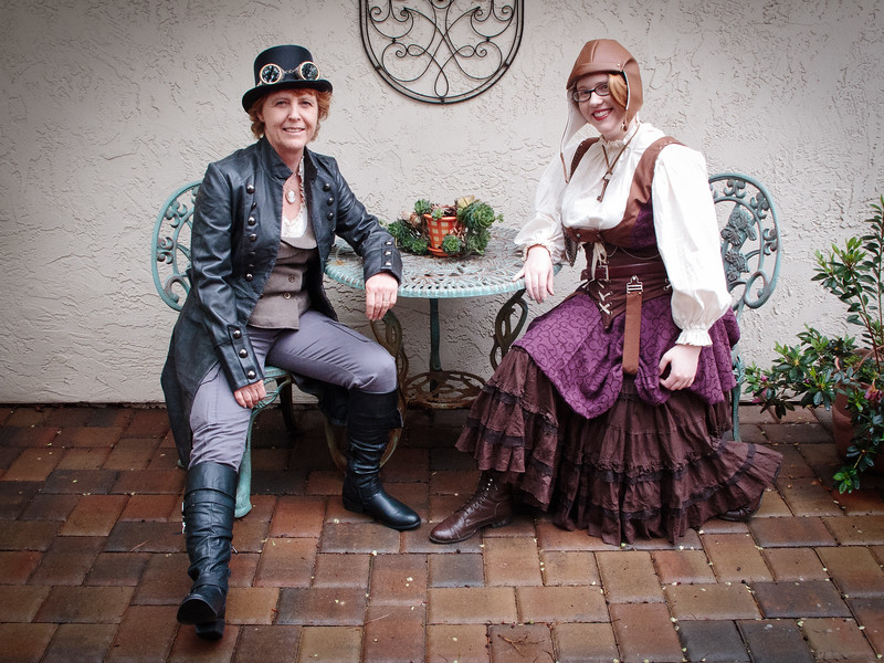 Steampunk Mother and Daughter
