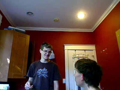 Joseph Kaupert video #2 - The cinnamon challenge. He downed about 3/4 of a teaspoon which is very hard to do.