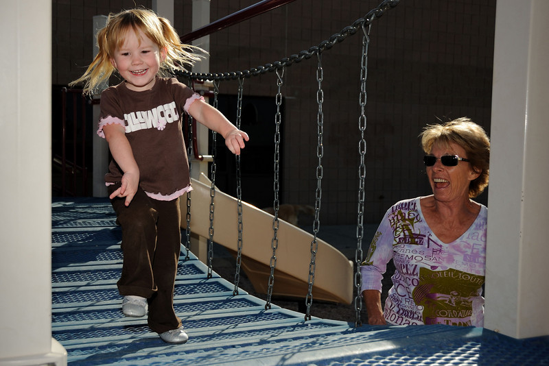 Claire with grama and papa 9-14-08