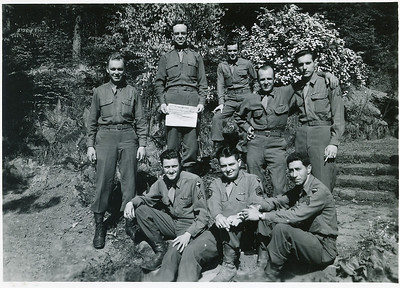 "Irving ""Mickey"" McKane - front row, center  (original last name of Nussbaum - change to his mother's maiden name ""McKane"" during war-time).  - PLEASE feel free to add any additional names or Info - Thanks!  {click on image to add comment}"