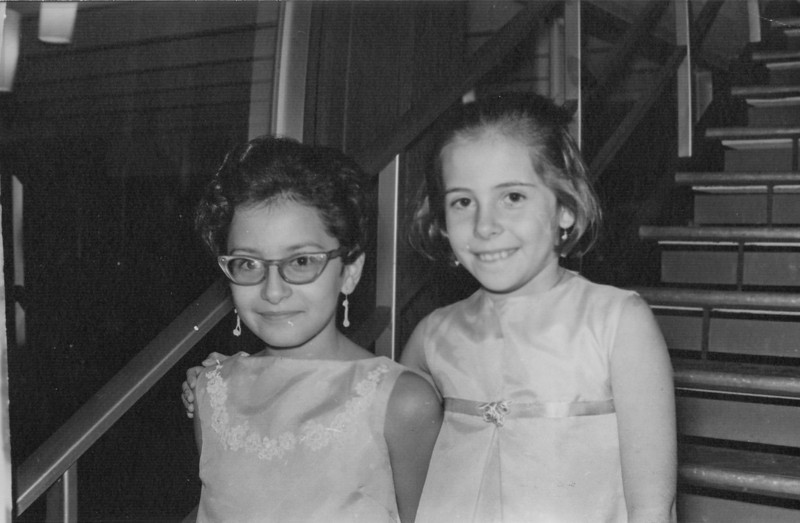 Laura y Patricia Martinez, sometime in the 60's.