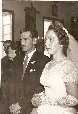 Boda de Jesús Martínez Solana y Martha Helena Ramírez Ortega. Enero, 1956.