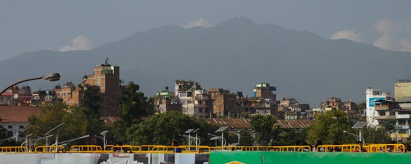 Kathmandu from pedestrian bridge