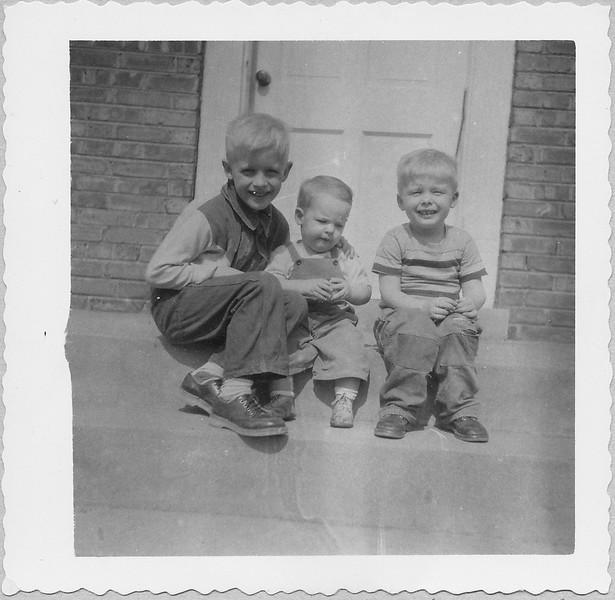 artie, ronnie, richie march 1953