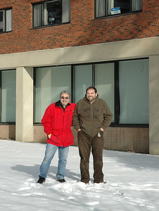 With Keith in front of Hubbard Hall - UNH December, 2004