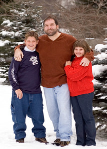 With Nate and Micah - Christmas, 2004